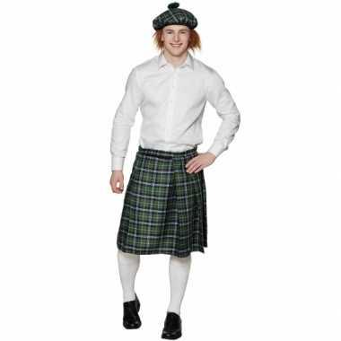 Schotse kilt met groene ruitjes