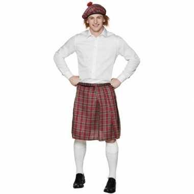 Schotse kilt met rode ruitjes